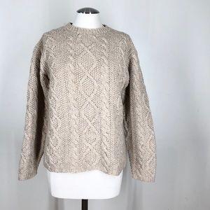 J crew knit wool blend sweater